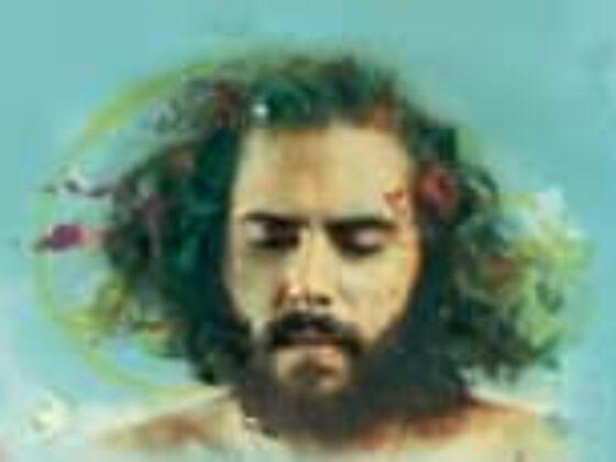 A imagem pode conter: 1 pessoa, barba e nadando